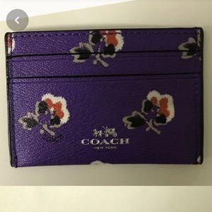 Floral Coach Card Holder